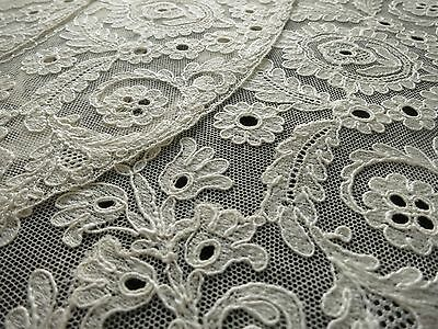 RARE & LUSH Unused Antique French TAMBOUR LACE c1930 Set 8 PLACEMATS ~BEAUTIFUL~