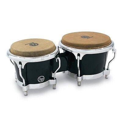 Latin Percussion LP Fiberglass Bongos, Black, LP200XF-BK, Brand New