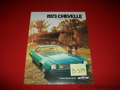 Vintage 1973 Chevrolet Chevelle Laguna Malibu Deluxe Dealer Brochure Options