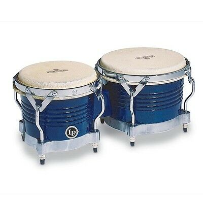 Latin Percussion LP Matador Wood Bongos,Royal Blue w/ Chrome Hardware, M201-BLWC