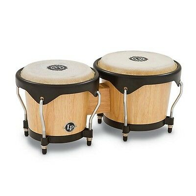 Latin Percussion LP City Bongos, Natural, LP601NY-AW, Brand New