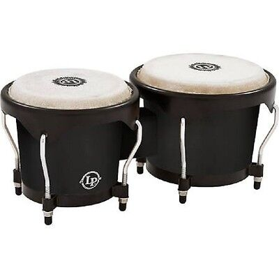 Latin Percussion LP City Bongos, Black, LP601NY-BK, Brand New