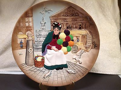 """Vintage 1979 Royal Doulton #D6649 """"The Old Balloon Seller"""" Lady Collector Plate"""