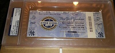 Derek Jeter Signed Autographed Ticket   Sept 11, 2009 Hits Record JSA and PSA