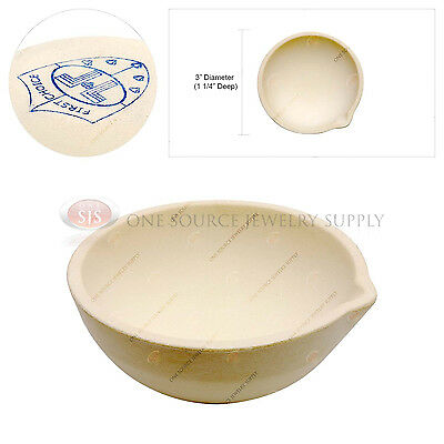 """3"""" Melting Dish Crucible Metal Alloy Heated Pour Jewelers Tool Hobby Work"""