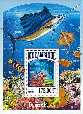 Mozambique 2013 Stamp, MOZ13007B Coral & Fish, Marine Life, Animal