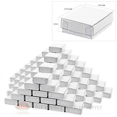 """100 New White Clear View Top Gift boxes 2 1/8"""" x 1 5/8"""""""