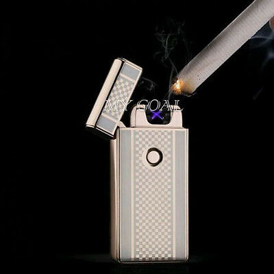 USB Rechargeable Dual Beam Pulse Arc Cigarette Lighter Electronic Flameless