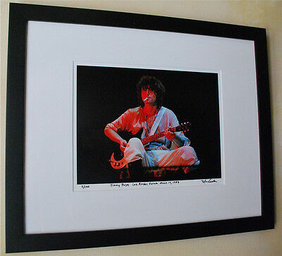Jimmy Page from Led Zeppelin live fine art photo LA Forum 1985 signed # 10/100