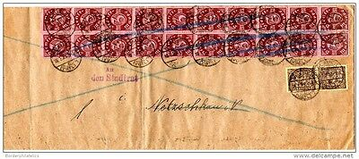 Germany 1923 Dienstmarke Large Cover 22 Stamps X2657