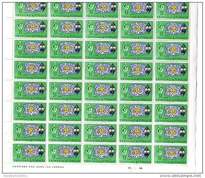 Trinidad & Tobago 1964 35c Girl Guides Sheet of 60 (sent folded) Mint MNH X2729