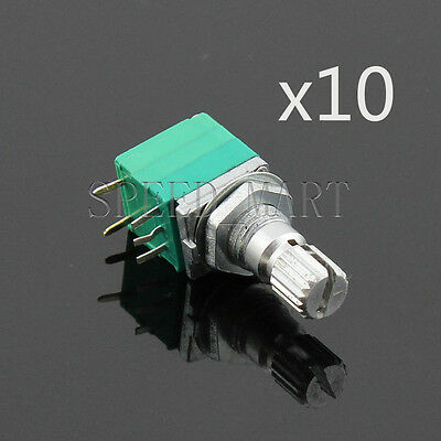 10x B5K Audio Amplifier Sealed Potentiometer 15mm Shaft 5 pins