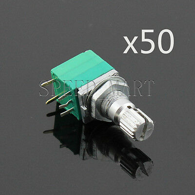50x B5K Audio Amplifier Sealed Potentiometer 15mm Shaft 5 pins Wholesale