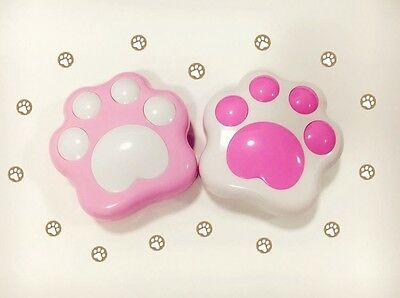 Cute Cat-pad Contact Lens Case Lovely Cat Paw Style Len Box Container Two Colors