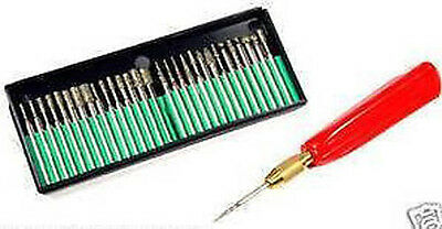 31 Piece 80 Grit Diamond Bur Bit Set Rotary Tools New