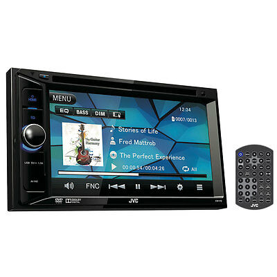 JVC KW-V12 6.2 inch WVGA Double Din DVD CD USB Car Stereo Receiver