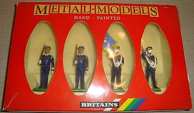 Britains 7307 U.s.air Force Colour Party Metal-Models Hand Painted (Soldatini)