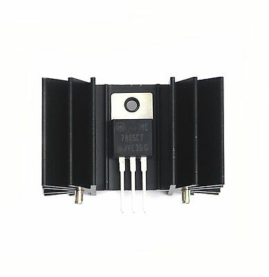 5pc Black Aluminum Heatsink Ak-122 42x25x25mm Hole=M3x0.5 For TO-3P TO-220