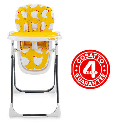 Cosatto Noodle Supa Highchair Hen House 6 Heights And 3 Recline Positions