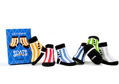Uptown Spats 0-12 months Trumpette Baby Socks, Boxed Set of 6
