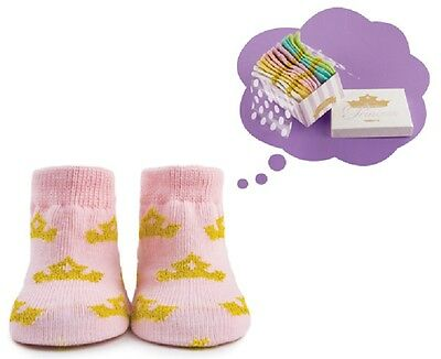 Princess 0-12 months Trumpette Baby Socks, Boxed Set of 6