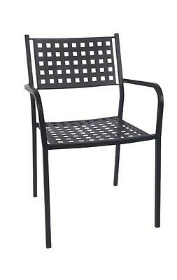Lot of 10 Restaurant Outdoor Patio Black Iron Stackable Chair