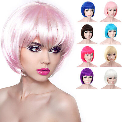 OneDor® 10 Inch Short Straight Flapper Bob Wigs