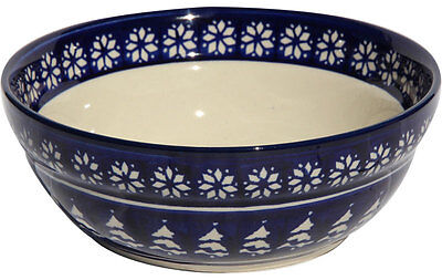 "Polish Pottery Cereal / Salad Bowl 7""  from Zaklady Boleslawiec Polish Stoneware"
