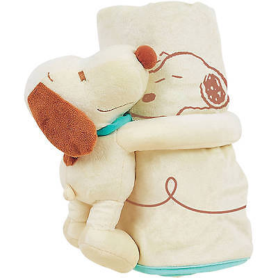 Peanut Snoopy Infant Plush With Blanket