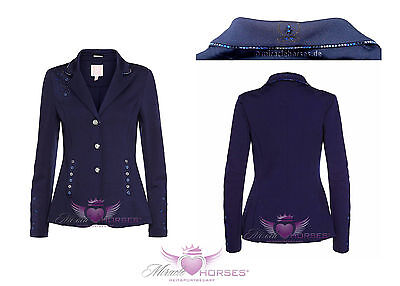 Imperial Riding LA FLEUR Turnierjacket 80 40 Damen Softshell Strass elegant blau