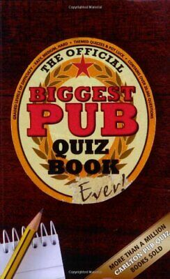 The Biggest Pub Quiz Book Ever! by Preston, Sue Paperback Book The Cheap Fast