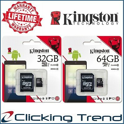 Micro SD 32gb 64gb Kingston Class 10 SDHC SDXC Memory Card Samsung Phone Tablet