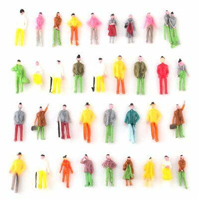 100pcs OO Scale 1:75 Mixed Painted Figure People Models Train Street Passenger