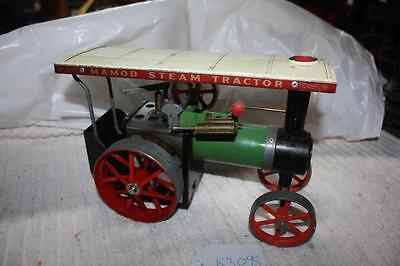 mamod live steam tractor has burner and shuttle [k3098]