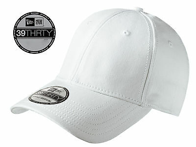 New Era 39Thirty Blank Stretch Cotton fitted White Hat Cap NE1000 -Free  Shipping 45de7dc396c7