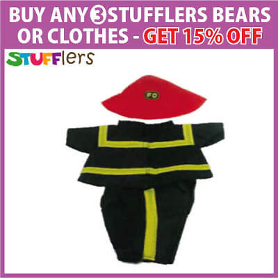 Fireman Clothing Outfit by Stufflers – Will fit on a Build a bear