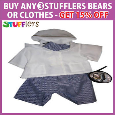Chef Clothing Outfit by Stufflers – Will fit on a Build a bear