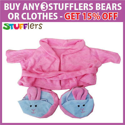 Pink Dressing Gown Clothing Outfit by Stufflers – Will fit on a Build a bear