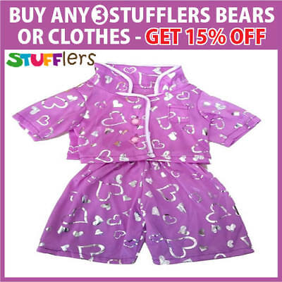 Purple Love PJS Clothing Outfit by Stufflers – Will fit on a Build a bear