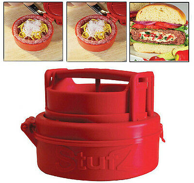 New Red Cooking Tools Silicone Hamburger Press Burger Maker Barbecue Household