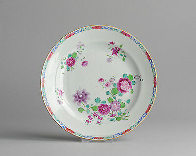 Top Level & Rare! 18c Early Qianlong Famille Rose Porcelain Plate Chinese Qing