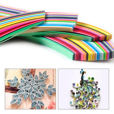 New 360 Strips 36 Colors Paper Craft Art Quilling 540mm Length 3/5/7/10mm Width