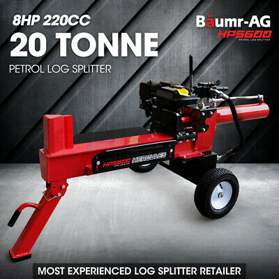 NEW Baumr-AG Petrol Log Splitter - 20T Hydraulic Fire Wood Block Cutter Axe