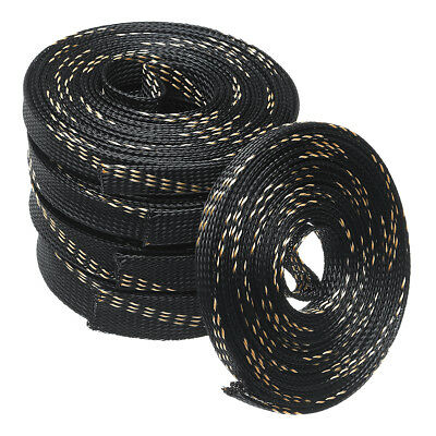 8-25mm 5/10M PET Braided Expandable Auto Wire Cable Lot Sleeving Sheathing