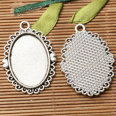 16pcs dark silver color  round shaped cabochon setting in 14mm EF3308