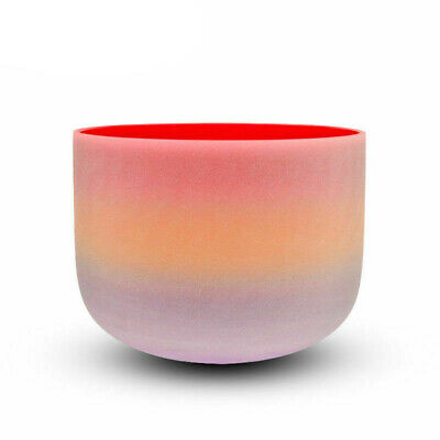 """TOPFUND® Rainbow Colored Frosted D Sacral Chakra Quartz Crystal Singing Bowl 10"""""""