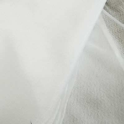 Stretch Jersey Knitted fusible iron on interfacing in WHITE - sold by the metre