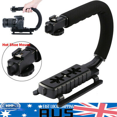 Black Handheld U Shape Camera Fixed Bracket Video Stabilizer For DSLR Camera