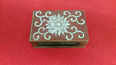 Unusual Cloisonne Enamel Matchbox Cover