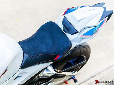 BMW S1000RR Seat Cover 2015-2016 Black Red Blue Carbon Fiber Look Rider Luimoto